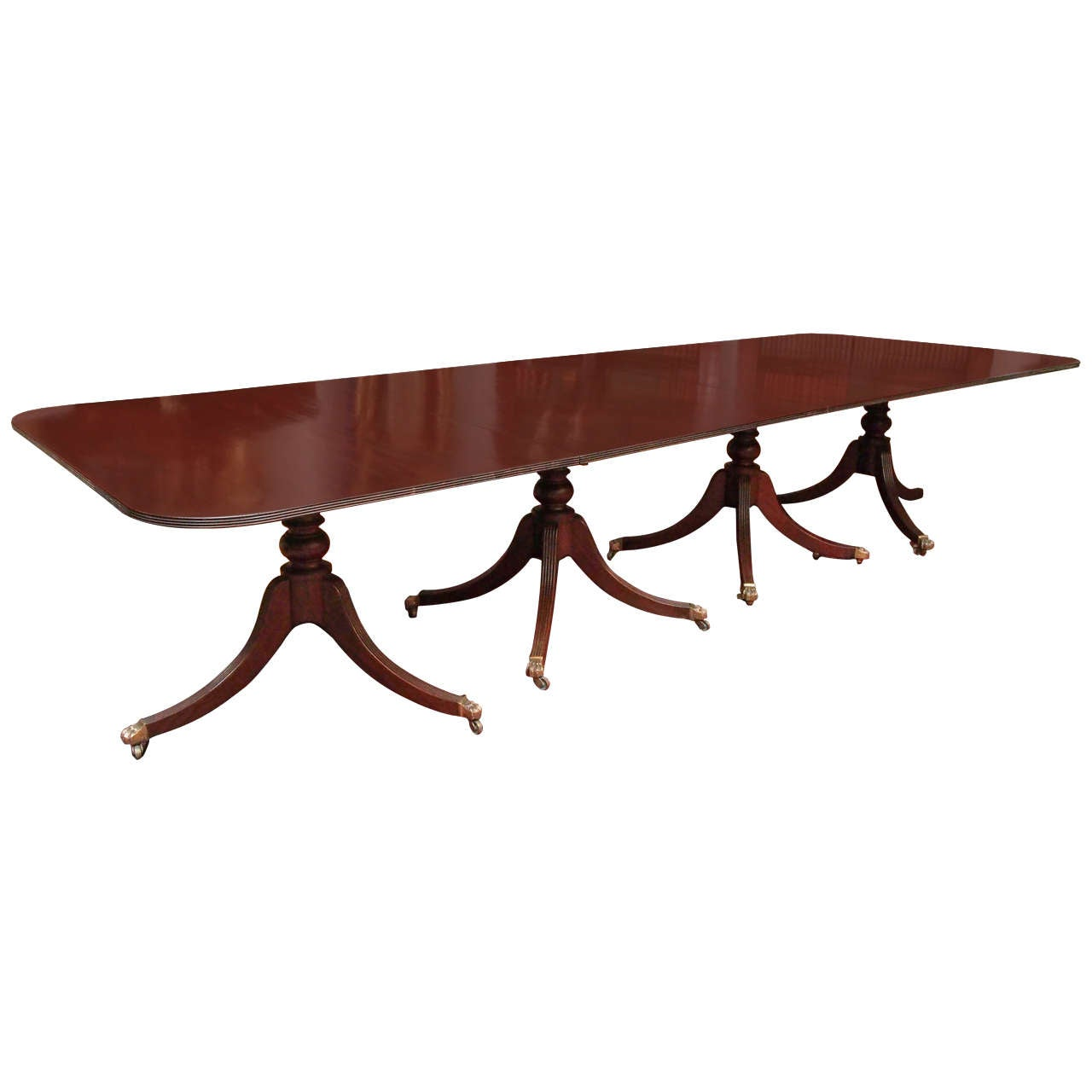 Large Four Pedestal Georgian Dining Table