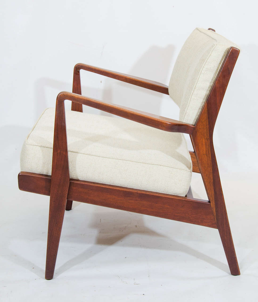 Charmant Mid 20th Century Jens Risom Lounge Chair And Ottoman For Sale