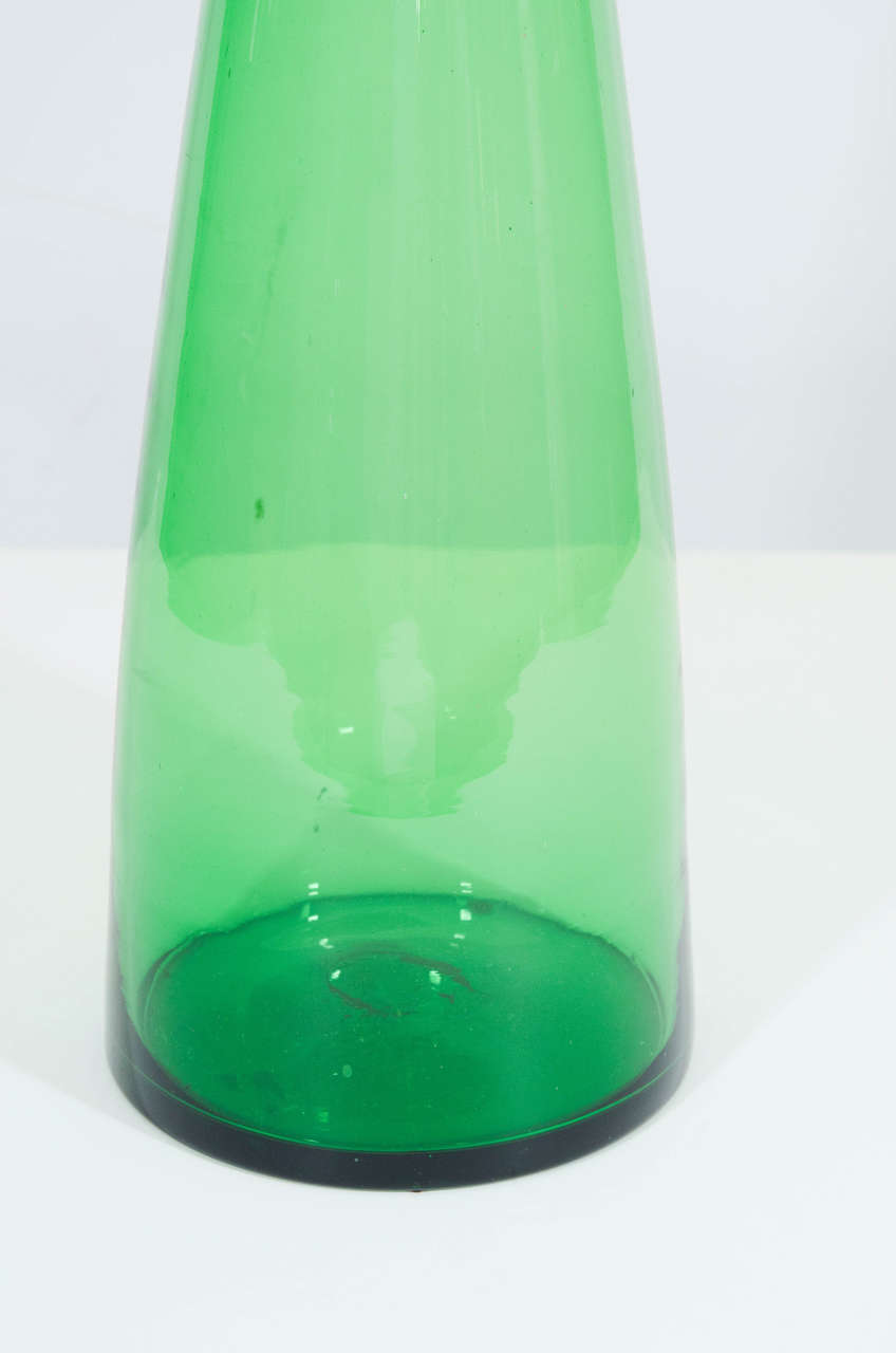 Grand And Tall Floor Decanter By Wayne Husted For Blenko