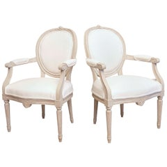 19th Century Pair of Swedish Antique Armchairs