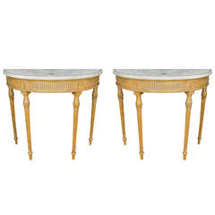Pair of Bossi Demilune End Tables