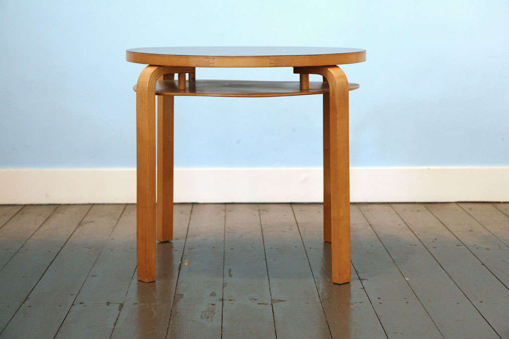 Mid-20th Century Two-Tier Table from Alvar Aalto