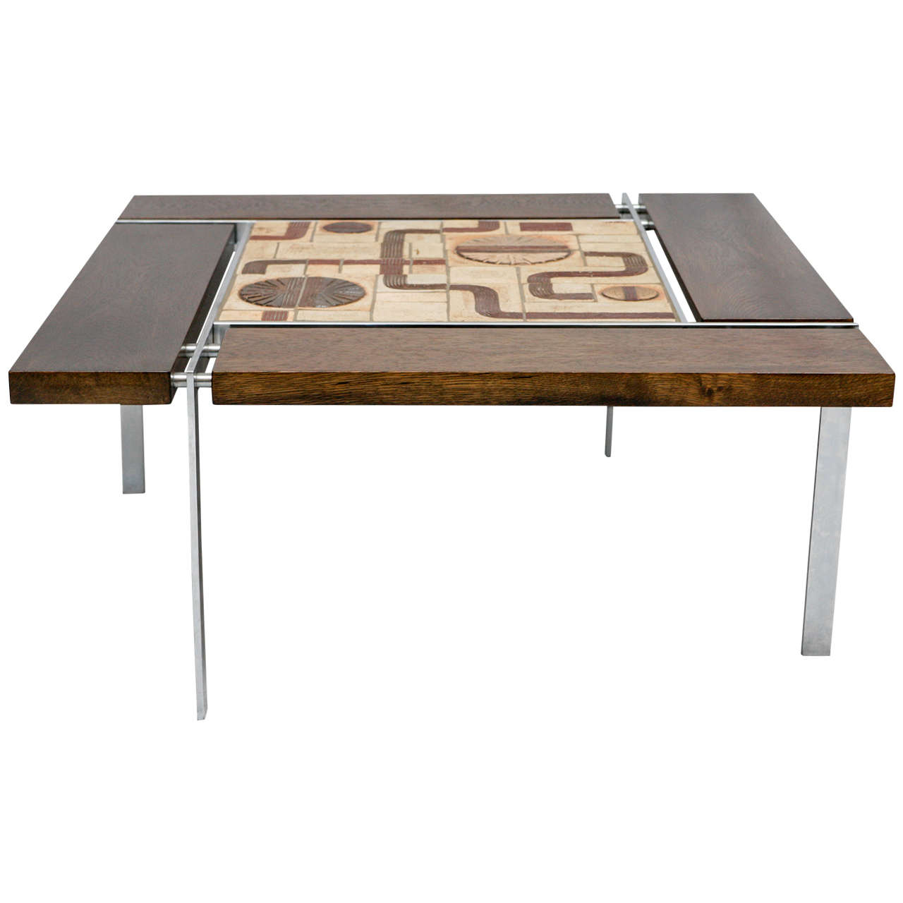 Danish tile top coffee table for sale at 1stdibs danish tile top coffee table 1 geotapseo Choice Image
