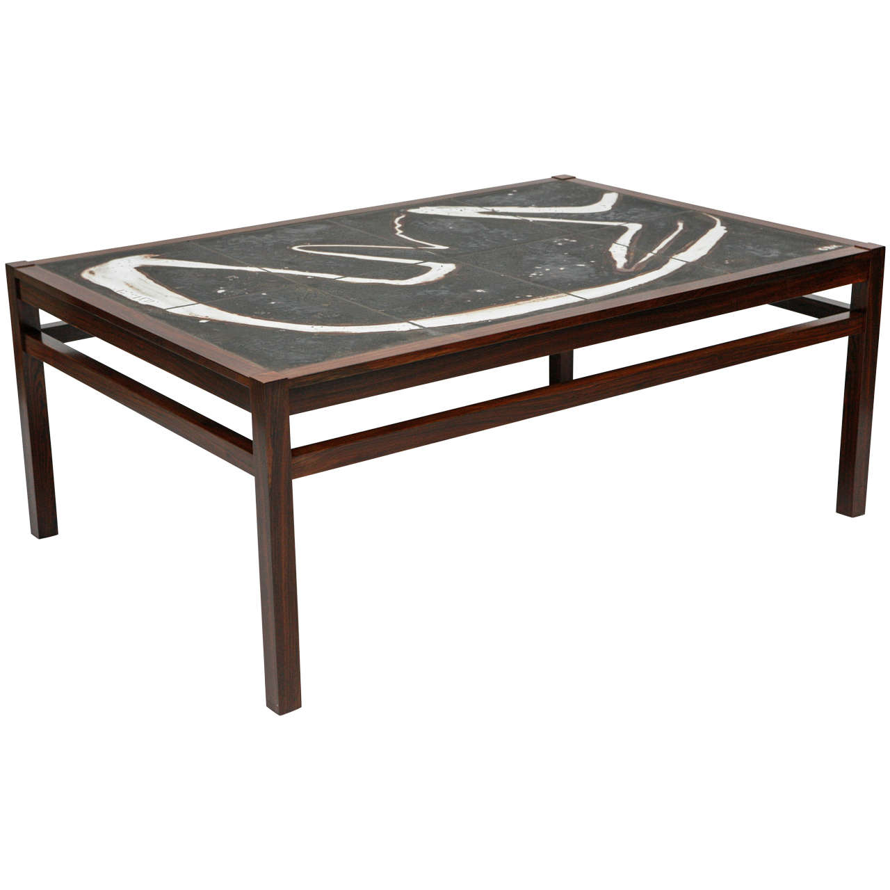 abstract tile coffee table