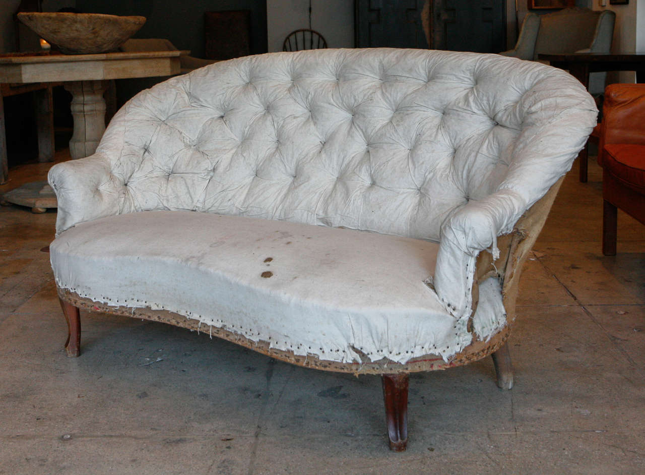 Tufted french canap c 1890 at 1stdibs for Canape in french