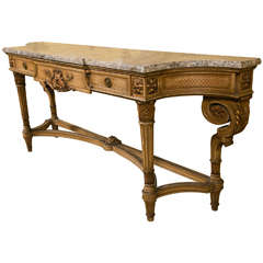 French Louis XVI Style Marble-Top Console by Jansen