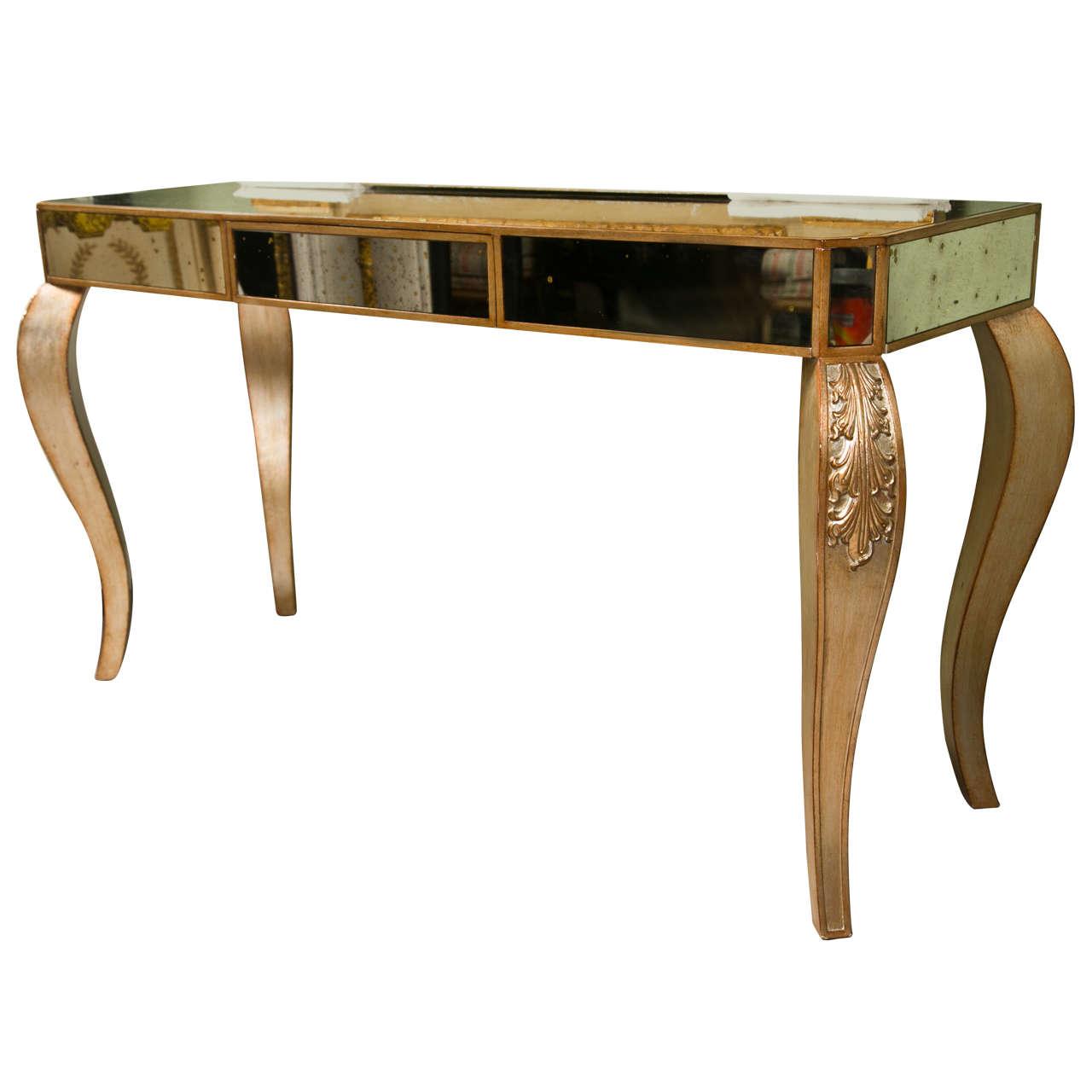 Decorative Mirrored Console Table