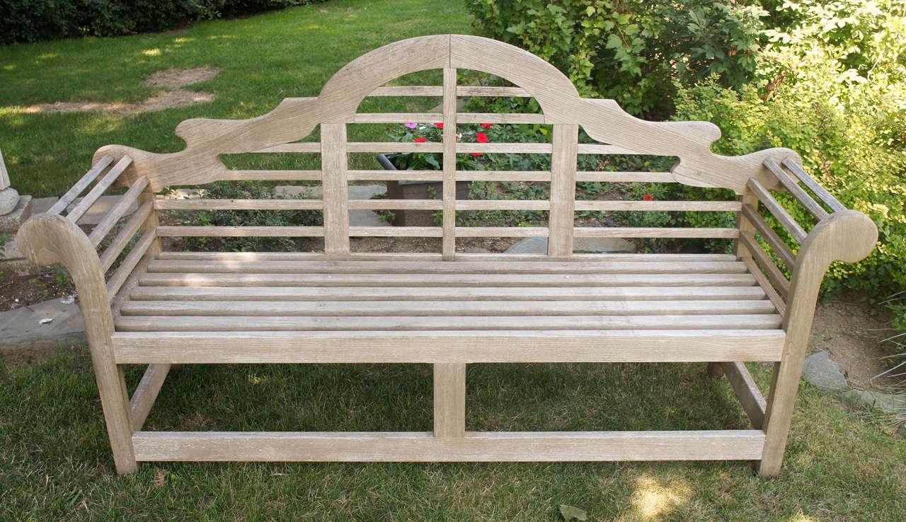 Fine English Vintage Lutyens Bench Made In Teak 2