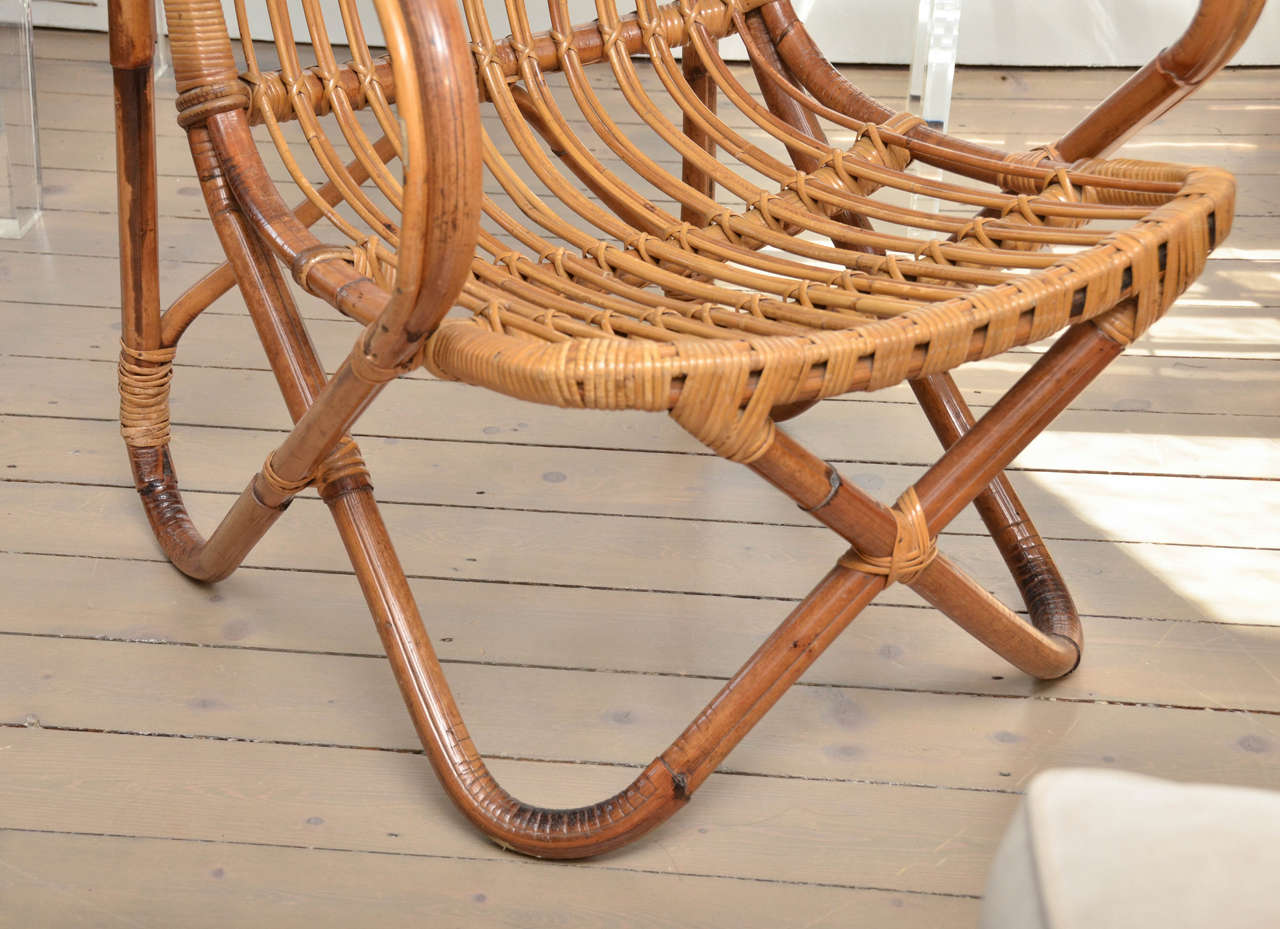 Pair of Bamboo Armchairs In Excellent Condition For Sale In Bridgehampton, NY