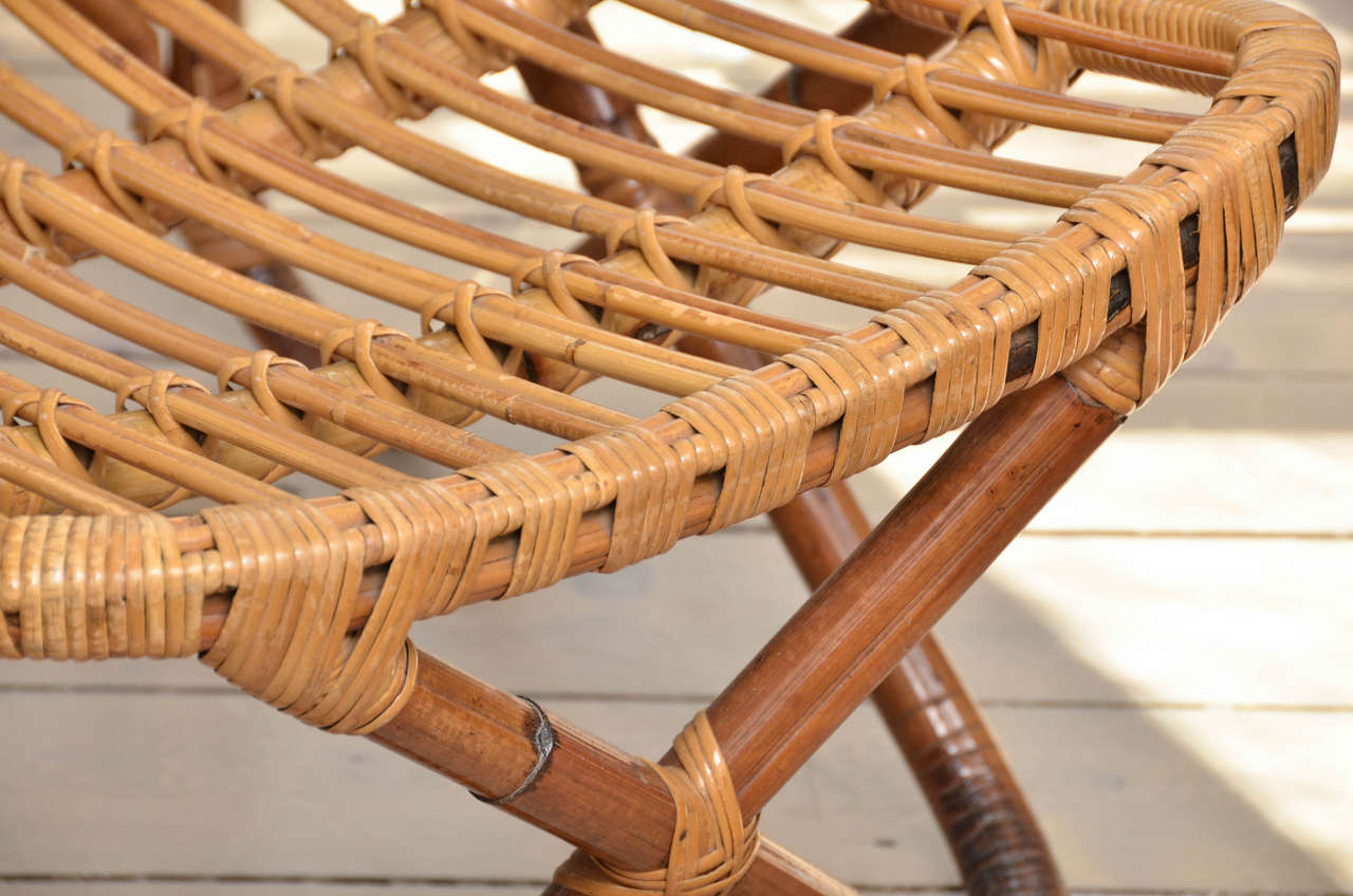 Pair of Bamboo Armchairs For Sale 1