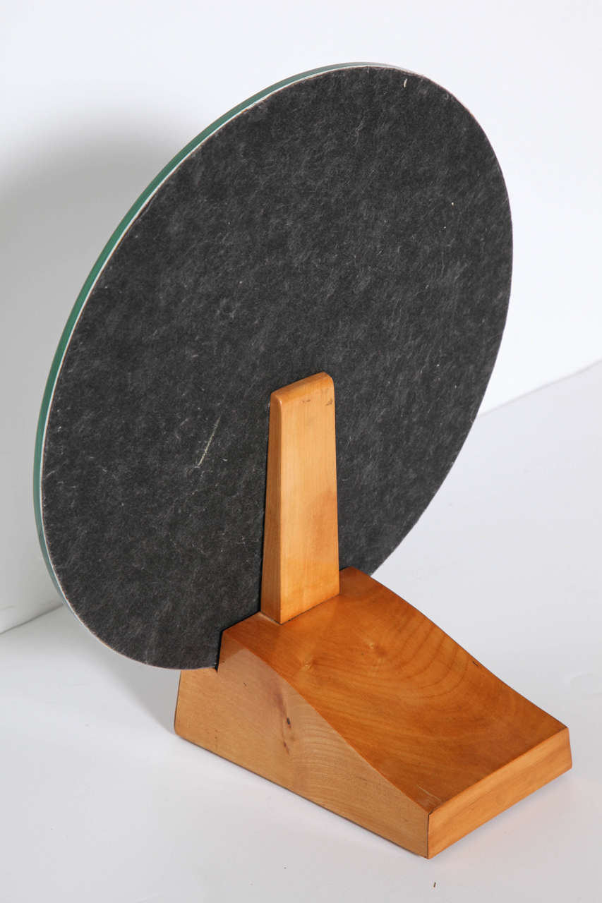 Émile-Jacques Ruhlmann, Sycamore Table Mirror, France, C. 1928 In Good Condition For Sale In New York, NY