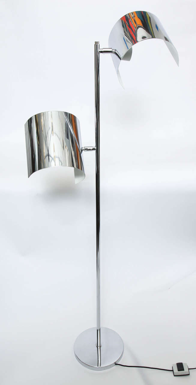 A 1970s Italian articulated floor lamp.