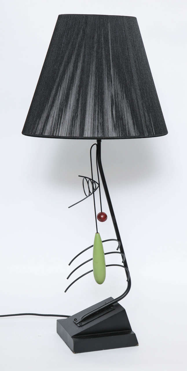 A 1950s sculptural table lamp by Heifetz. Shade not included