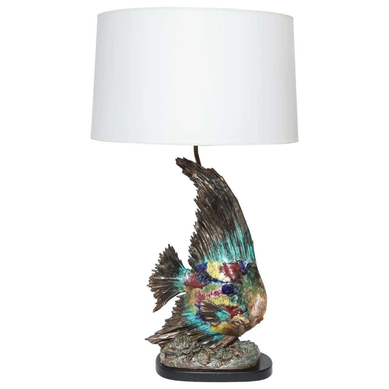 Italian Sculptural Ceramic Table Lamp