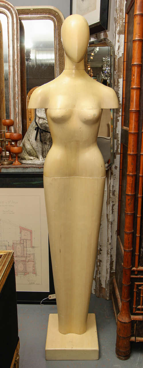 Four piece mannequin or sculpture with blonde finish.