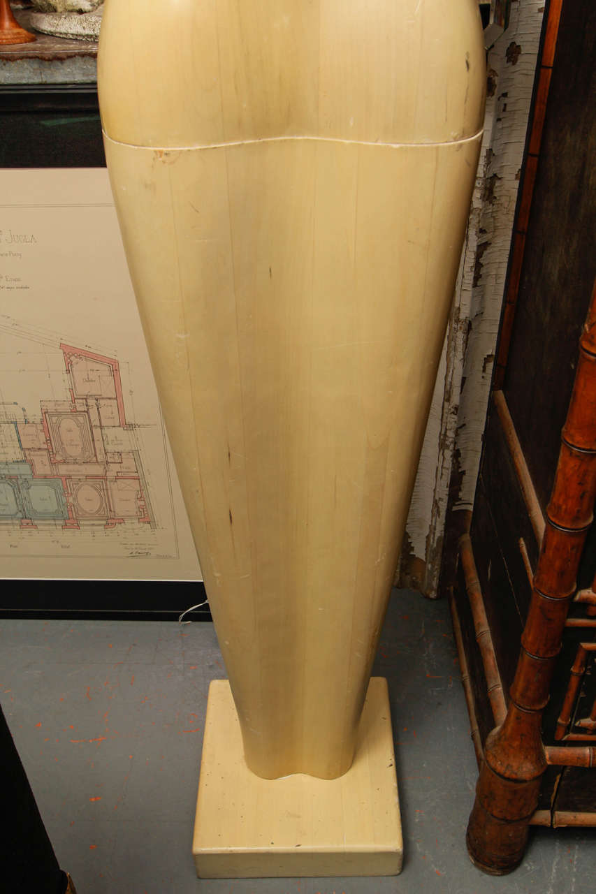 Mid-20th Century Life-Size Wood Sculpture of Female Form For Sale
