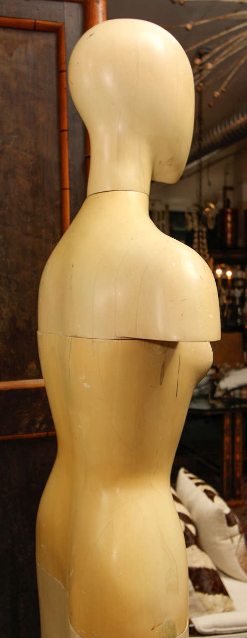 Life-Size Wood Sculpture of Female Form For Sale 2