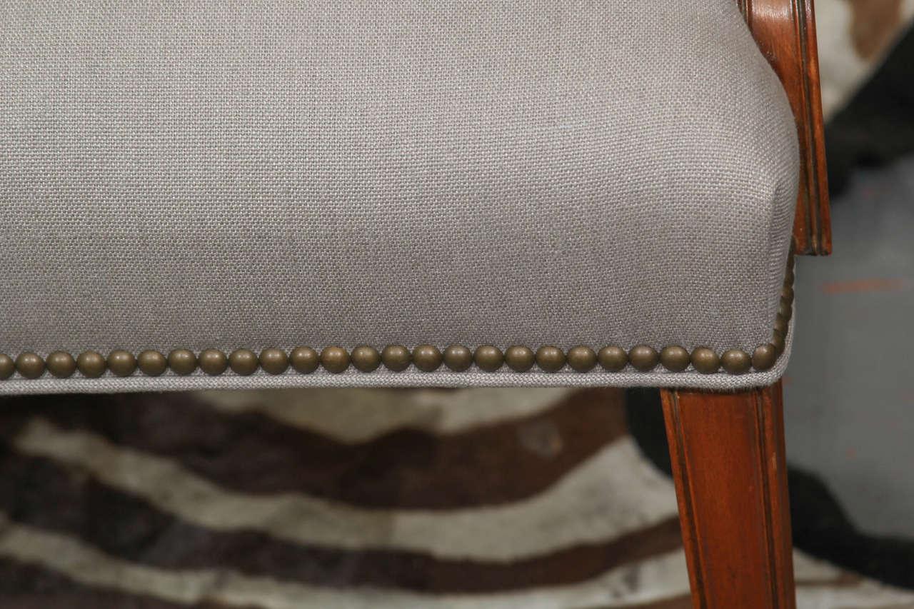 Grey Linen Side Chair 7