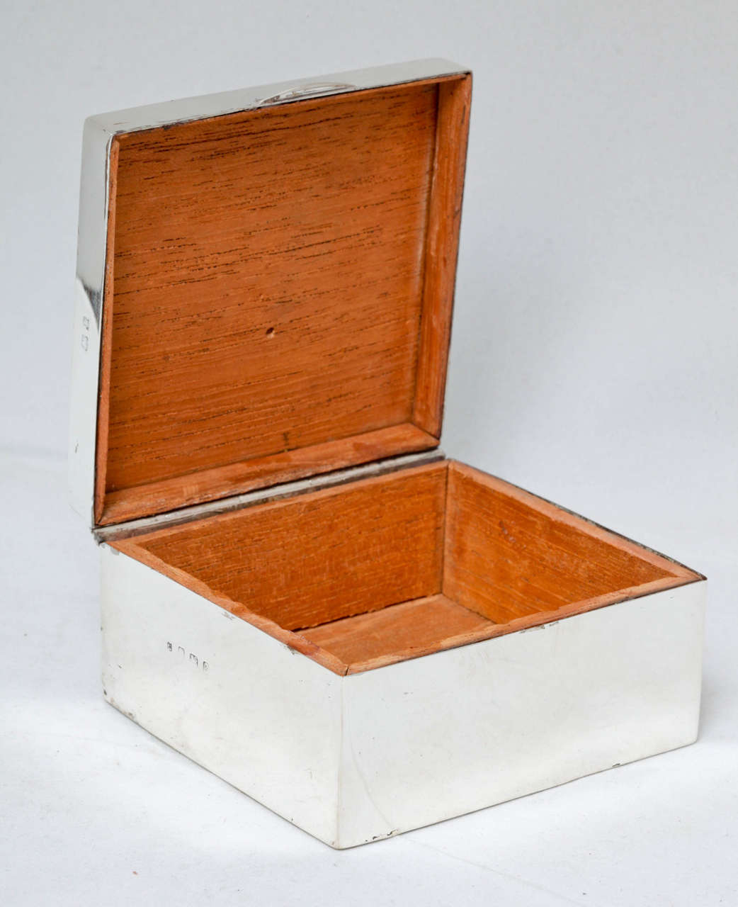 Edwardian Sterling Silver and Enamel Table Box For Sale 1