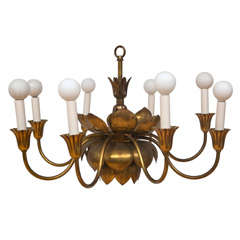 Monumental 1940 S Barovier Crystal Six Arm Chandelier At