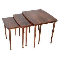 Danish Mid-century Nesting Tables In The Manner Of Knuud Joos