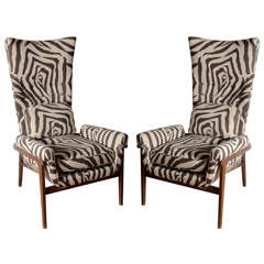 Midcentury High Back Chairs in the Style of Adrian Pearsall
