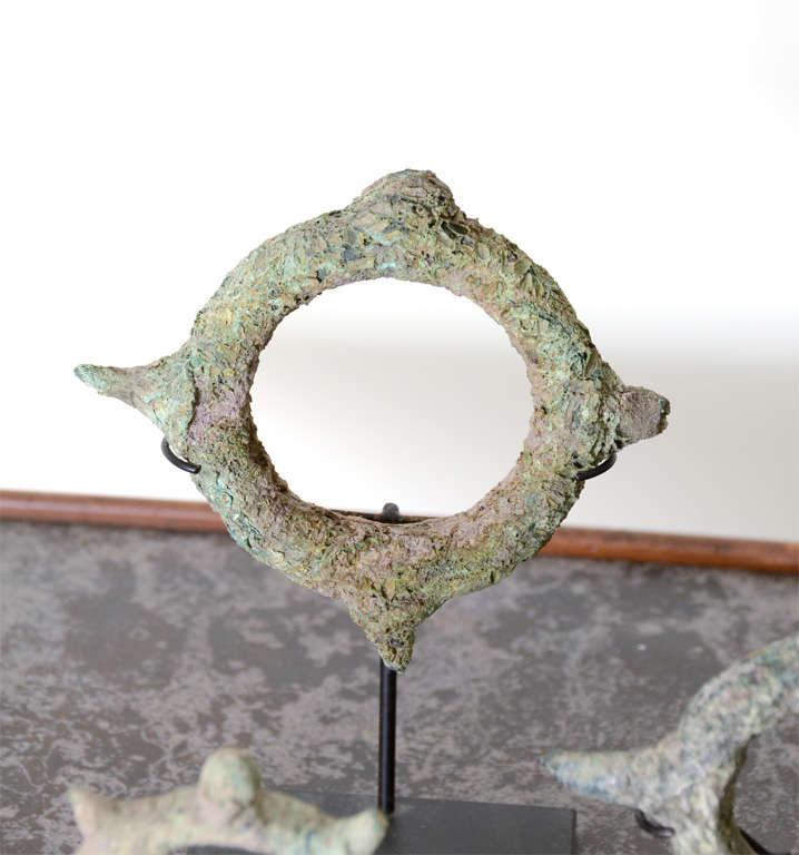 Set of Five Bronze Bracelets For Sale 2