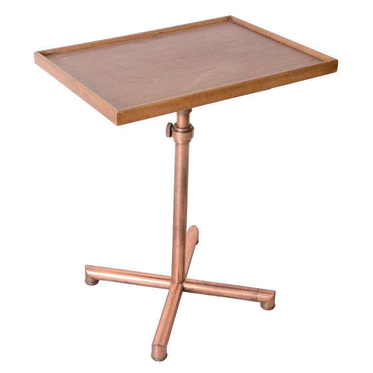 Adjustable table with copper base by francois caruelle at 1stdibs - Table basse ajustable ...