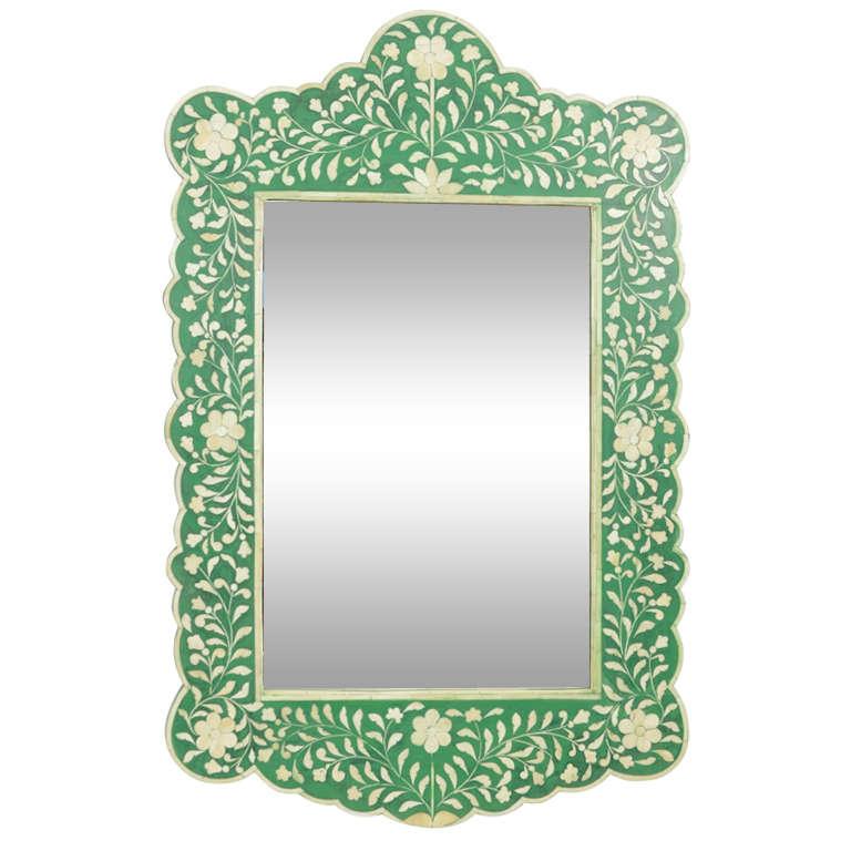 Indian Green Bone Mirror
