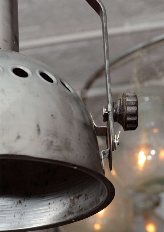 Pair of French Industrial Pendant Lights image 4