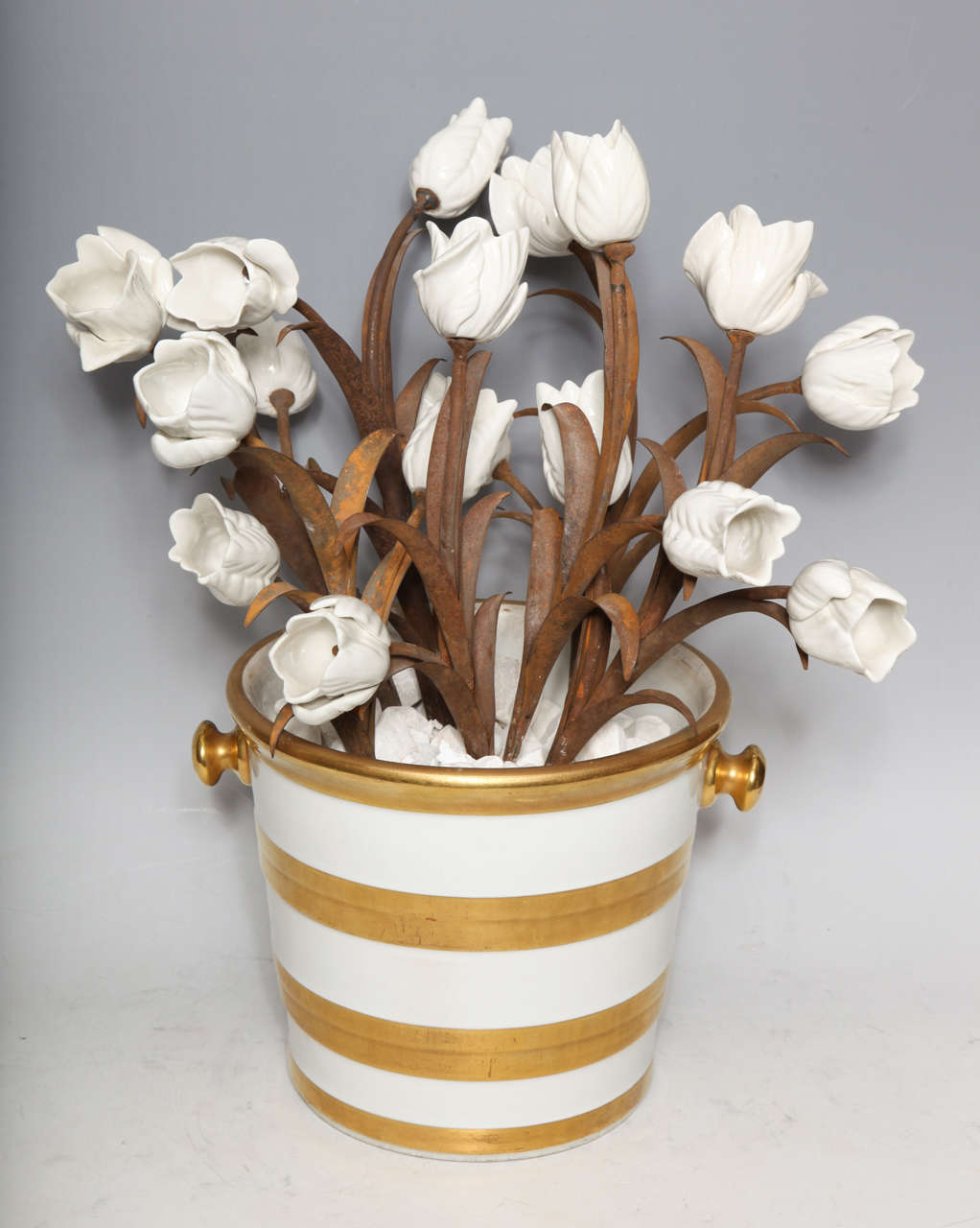 Unusual Pair of Antique French Louis XVI Style Porcelain Flower Baskets, Jansen For Sale 2