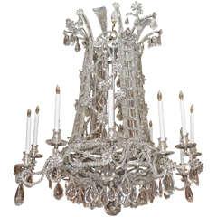 Antique French Baguès Crystal Original Design Chandelier