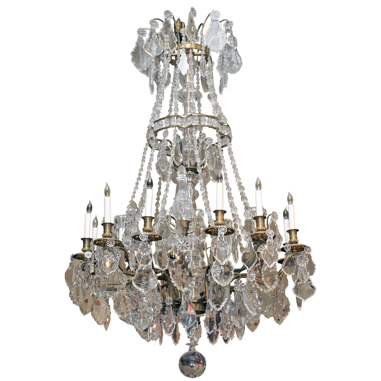 Antique French Louis Xvi Baccarat Crystal Chandelier At