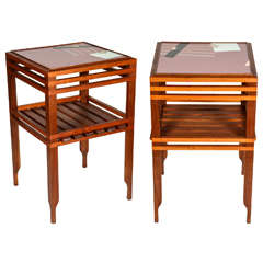 Pair of Mid-Century Modern Design End Tables or Studio Tables