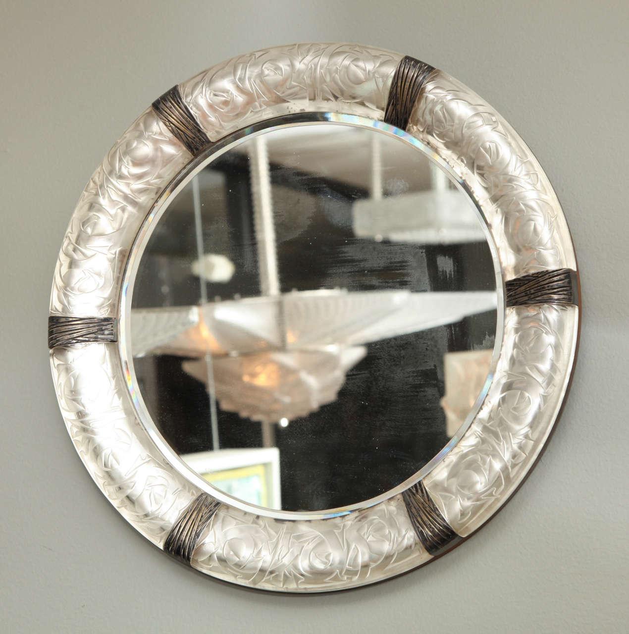 "A Rare Rene Lalique Wall Mirror ""Epines"" image 2"