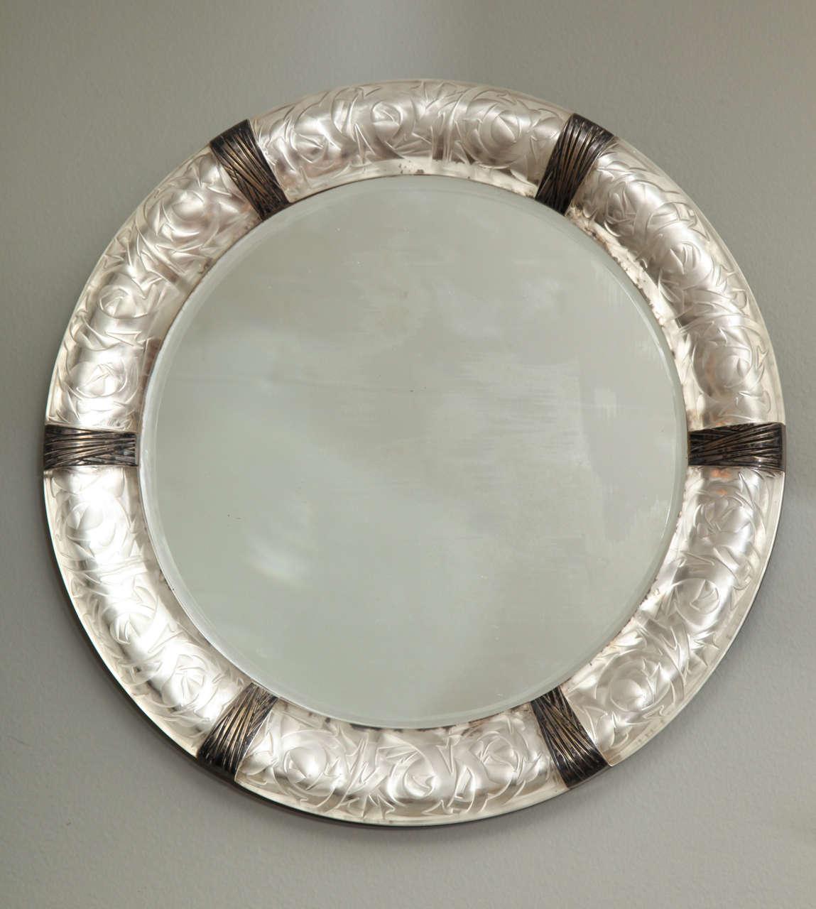 "A Rare Rene Lalique Wall Mirror ""Epines"" image 3"