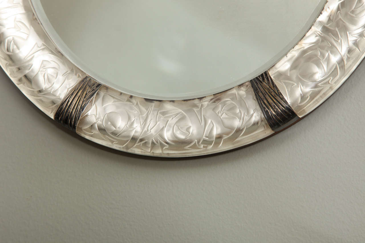 "A Rare Rene Lalique Wall Mirror ""Epines"" image 4"