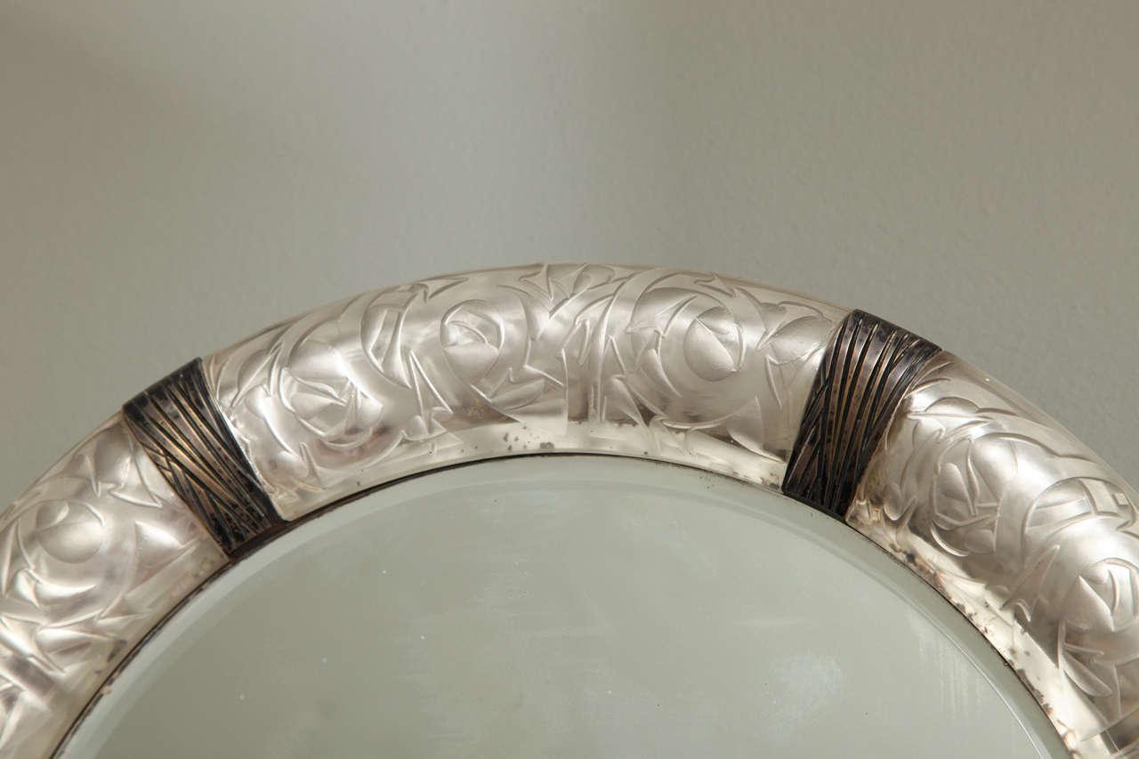 "A Rare Rene Lalique Wall Mirror ""Epines"" image 5"