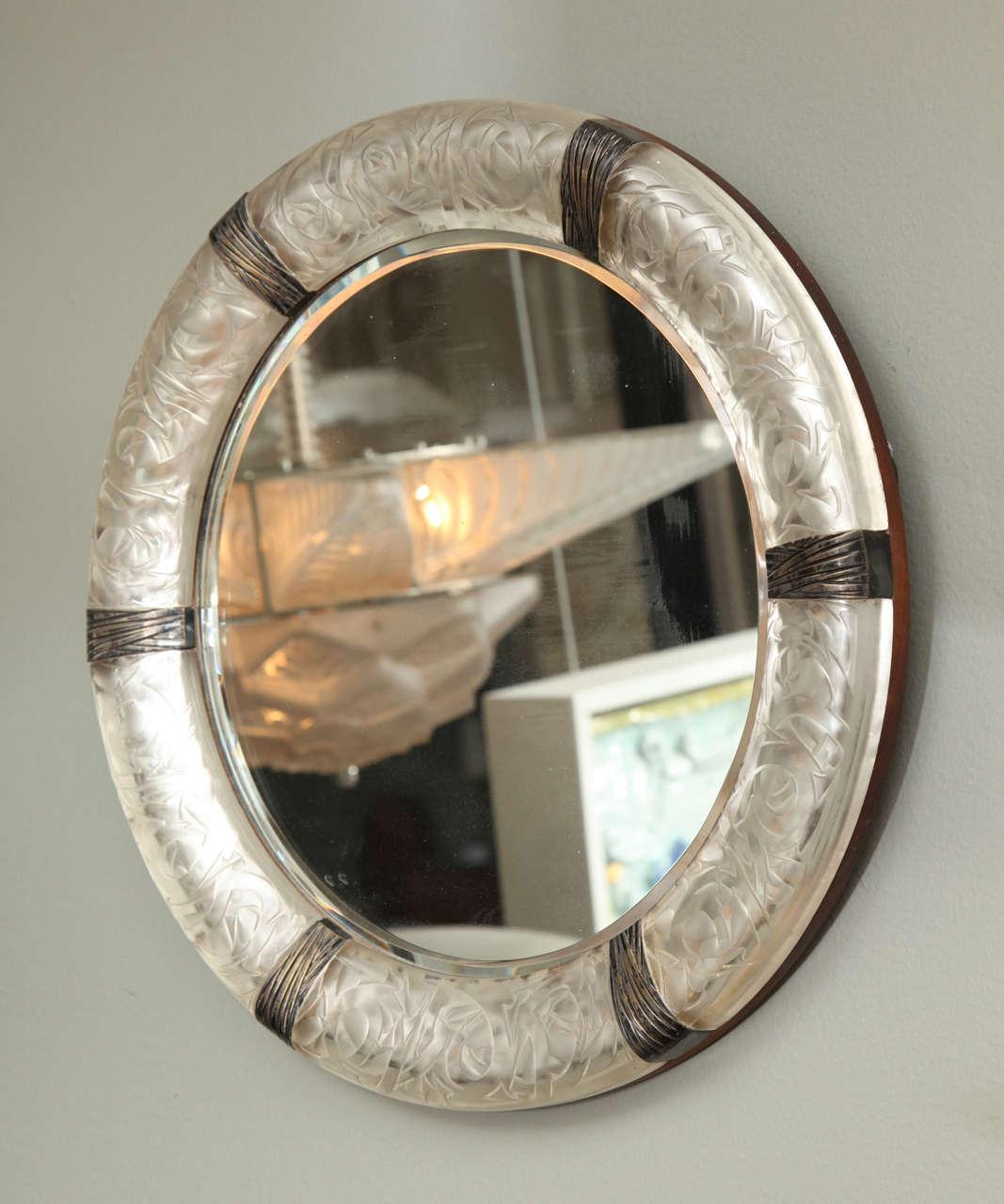 "A Rare Rene Lalique Wall Mirror ""Epines"" image 8"