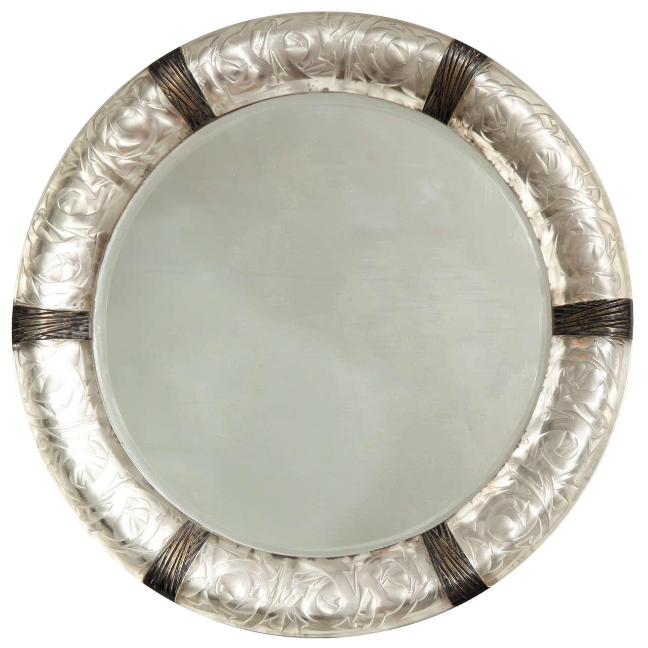 "A Rare Rene Lalique Wall Mirror ""Epines"""