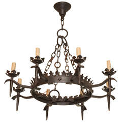 French Iron Chandelier