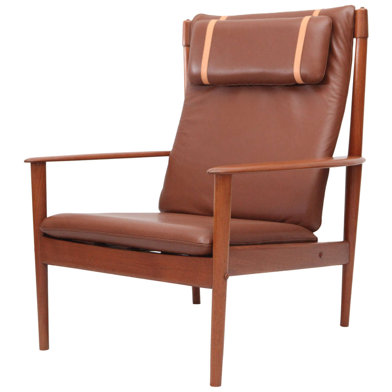 Grete Jalk High Back Lounge Chair At 1stdibs