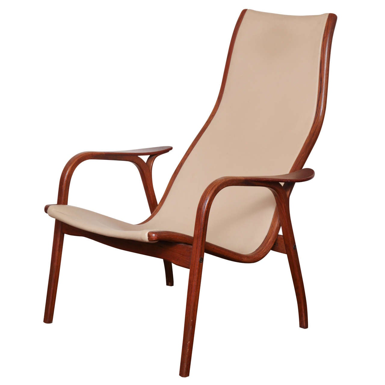 """Lamino"" Teak Arm Chair by Yngve Ekström for Swedese Möbler at 1stdibs"
