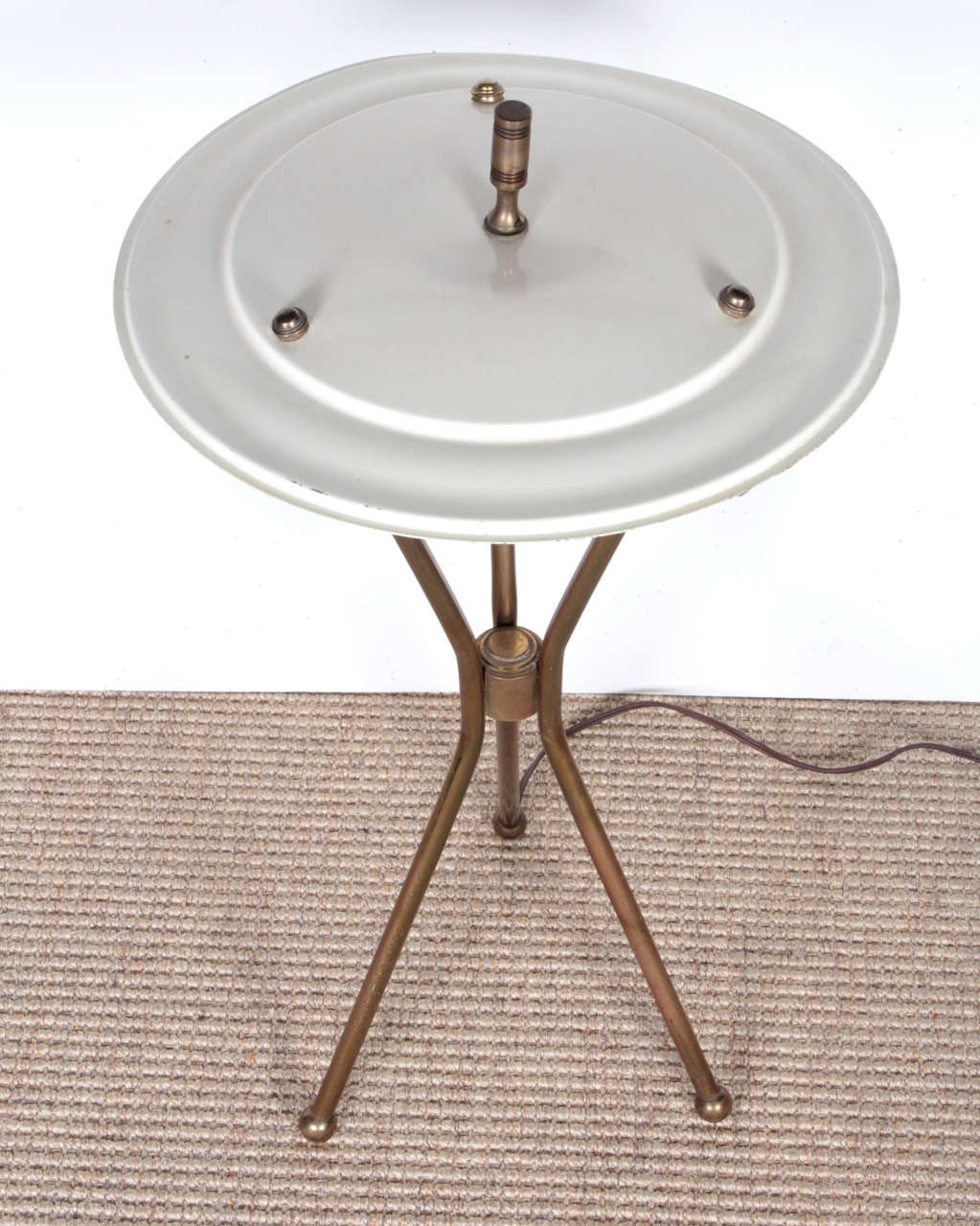 Gerald Thurston Brass Tripod Table Lamp With Original