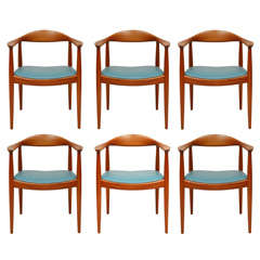 "Set of 6 Hans Wegner ""The Chairs"""