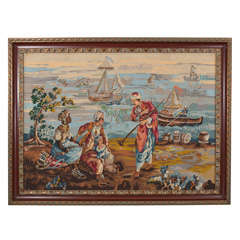 Framed Needlepoint Tapestry