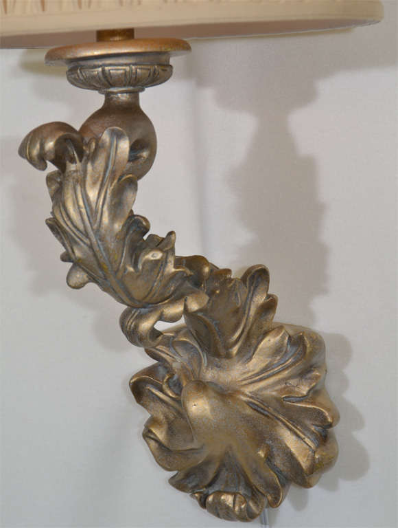 Pair of Beautiful 1970s Sirmos Trompe L Oeil Plaster Wall Sconces For Sale at 1stdibs
