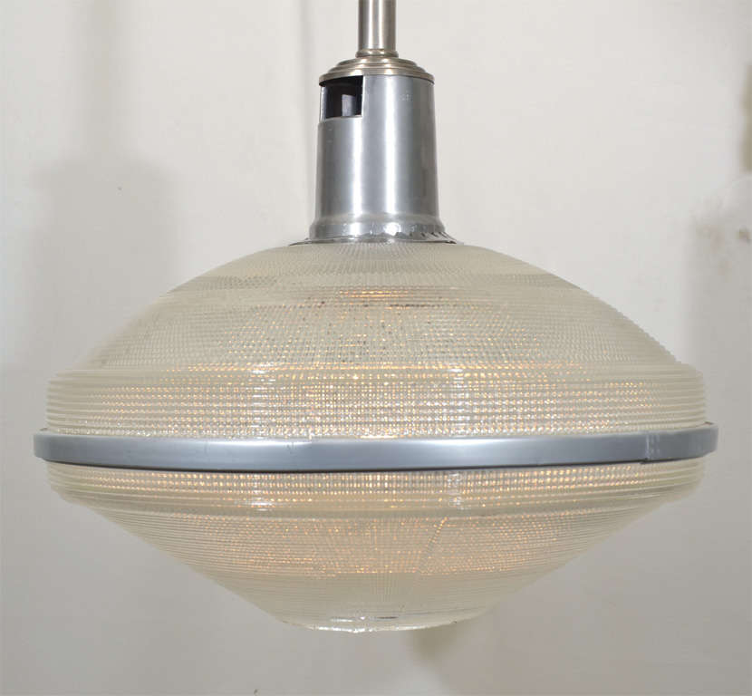 American Repurposed Industrial Holophane Lighting For Sale & Repurposed Industrial Holophane Lighting For Sale at 1stdibs