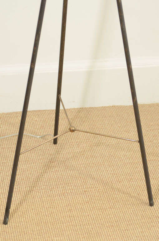 Gerald Thurston for Lightolier Enameled Tripod Floor Lamp 4