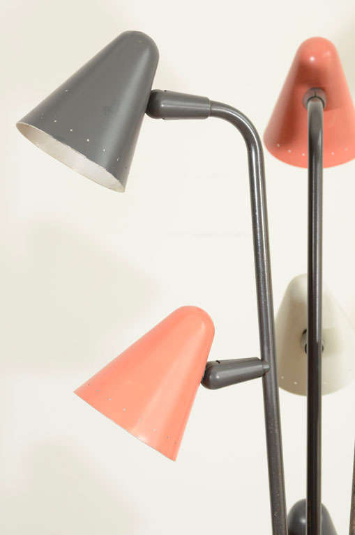 Gerald Thurston for Lightolier Enameled Tripod Floor Lamp 6
